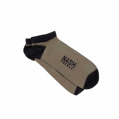 Nash Tackle Socks - Trainer, 2 Pairs Green & Black - Carp Fishing Clothing *NEW*