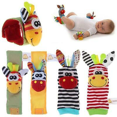 Colorful Baby Infant Animal Wrist Hand Foot Socks Rattle Kids Soft Plush Toys - Colorful Baby