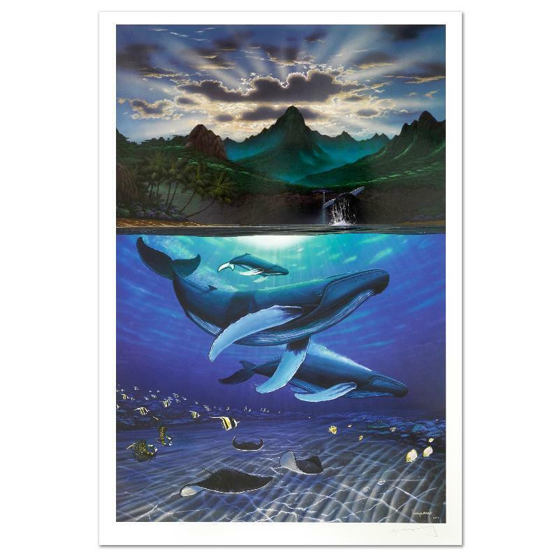 "Wyland ""dawn Of Creation"" Signed Limited Edition Art; Coa"