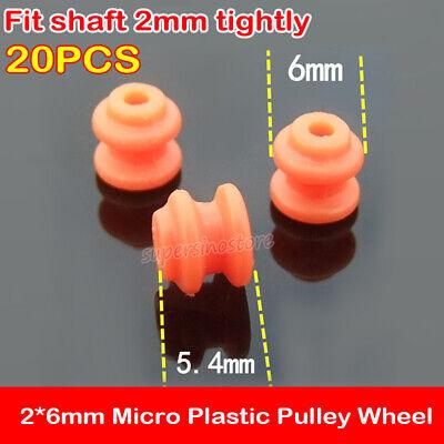 20pcs Micro Mini 26mm Plastic Pulley Wheel Fit Motor Shaft 2mm Diy Model Toy