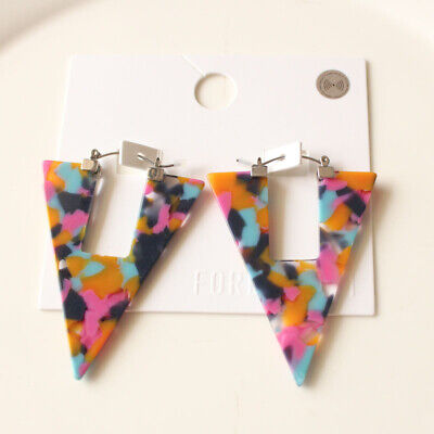 New Forever21 Triangle Hoop Earrings Gift Fashion Women Party Holiday Jewelry (Triangle Gift)