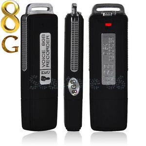 8GB USB Digital Sound Voice Recorder Audio Record Pen Dictaphone Memory Stick UK
