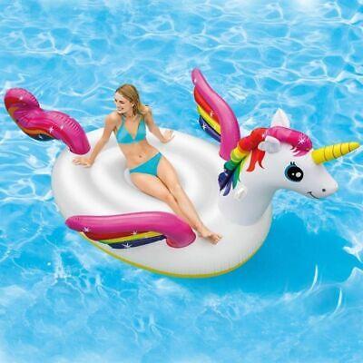Isola gonfiabile unicorno galleggiante gigante Intex 57281 mare piscina mshop