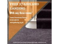 FREE STAIRS & LANDING WITH ANY THREE ROOMS.