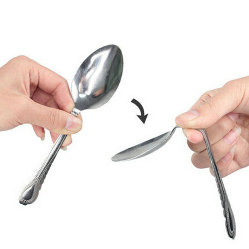 REPEAT BENDING SPOON Mind Mental Bend Magic Trick PK Gag Comedy Funny Close Up Collectibles