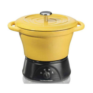Hamilton Beach Party Crock Cast Iron Dutch Oven -33410