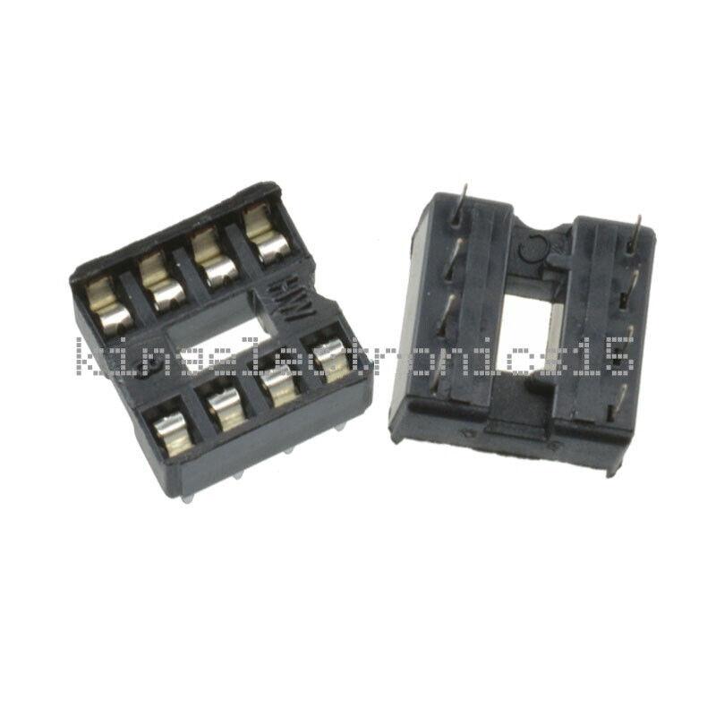 20PCS 8pin DIP IC Socket Adaptor Solder Type Socket Pitch Dual Wipe Contact