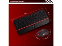 Wireless Multimedia Gaming Keyboard and Mouse Combo Set - New in Box
