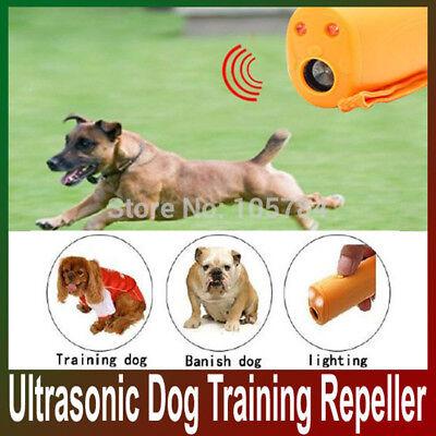 Ultrasonic Pet Dog Repeller LED Training Anti Barking Electronic Device Trainer