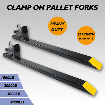 1500lb2000lb3000lb4000lb Clamp On Pallet Fork Capacity Loader Bucket Tractor