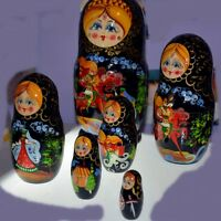 Wooden Russian Nesting Dolls - Matryoshka Stacking Nested Wood D