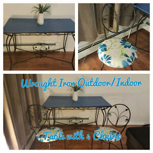 Wrought Iron Table with 4 Chairs *Outdoor/Indoor*