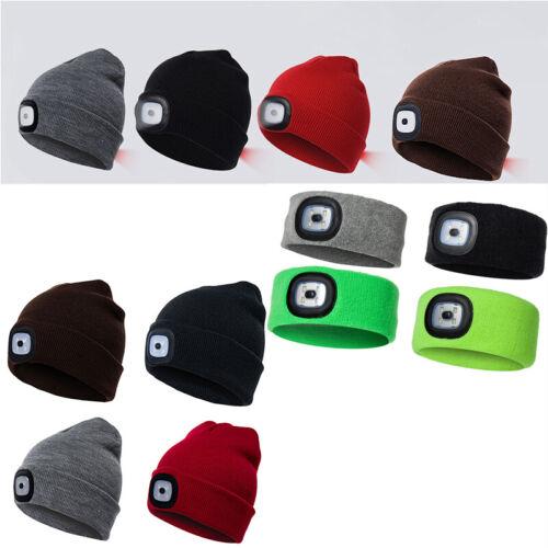 Cappello Beanie Unisex a 4 LED con Batteria Ricaricabile USB per Lavorare al Buio in Inverno