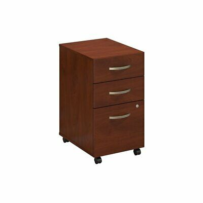 Bush Business Furniture 3 Drawer Mobile File Cabinet In Hansen Cherry
