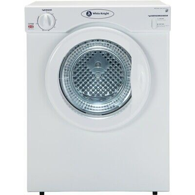 White Knight C37AW Compact Free Standing 3kg Vented Tumble Dryer White