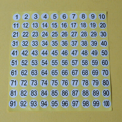 5 Sheets Number Round Self Adhesive Stickers Small Garment Letter Labels Tags (Number Stickers)