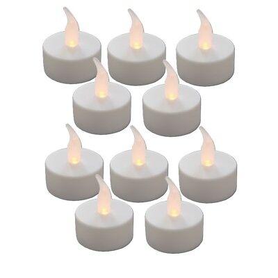 10 Stück LED TEELICHT Elektrische Flackernde Teelichter Kerze Flammenlose Kerze