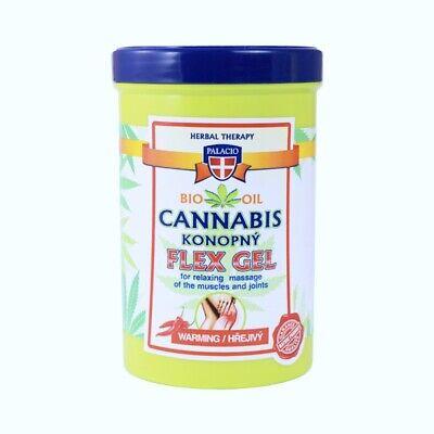 Bio wärmendes Massagegel 5% Cannabis Öl Hanf Muskel Gelenk Gel 0% Mineralöl