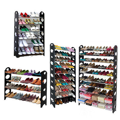 4/6/10 Tier 18/20/30/50 Pair Storage Organizer Free Standing Shoe Tower Rack