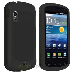 New Black Rubber Hard Skin Case Cover For Samsung Stratosphere i405 Accessory