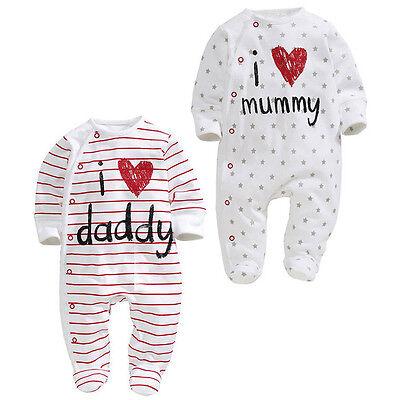 Newborn Baby Boys Girls Cartoon Bodysuit Outfit Costume Romper Cotton Clot Udww