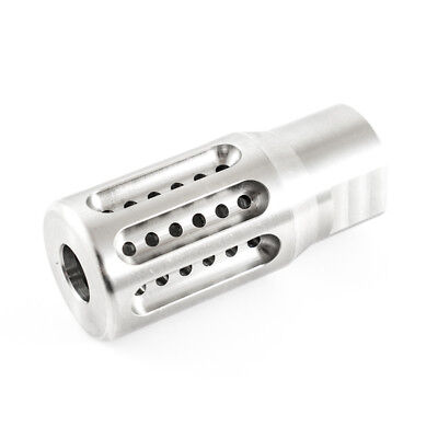 Muzzle Brake - Up to .25 Caliber - 1/2-28 TPI - High Quality Stainless