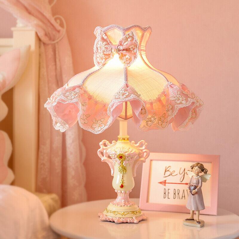 Pink Princess Led Table Lamps for Girl Bedroom Bedside ...