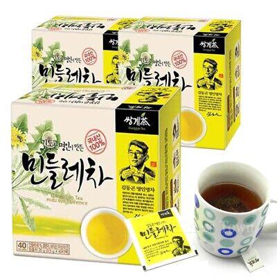 Korean Dong-Gon Kim Tea Master made Dandelion Tea (40T x 3 Box) 120 Tea bags