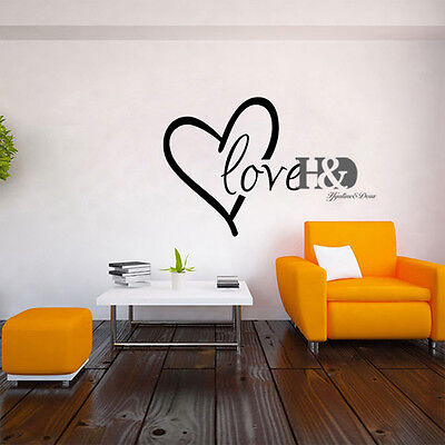 LOVE Vinyl Art DIY Wall Decal Sticker Decor Home Room Removable Mural Stickers
