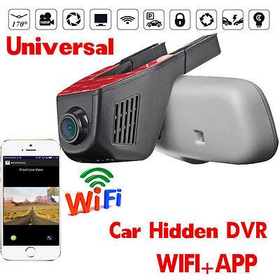 HD1080P 170°  Hidden Car WIFI DVR  Dash Cam APP  Camera Video Recorder G/sensor