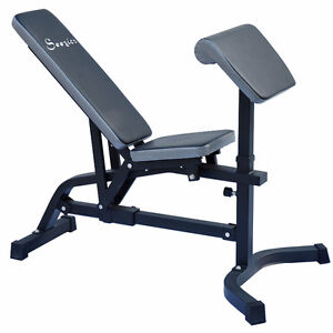 Soozier Incline / Flat Adjustable Exercise Fitness Workout Bench