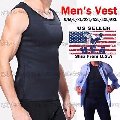 (Neoprene Redu Slimming Vest T-shirt Top Body Shaper for Men Weight Loss Fat Burn)