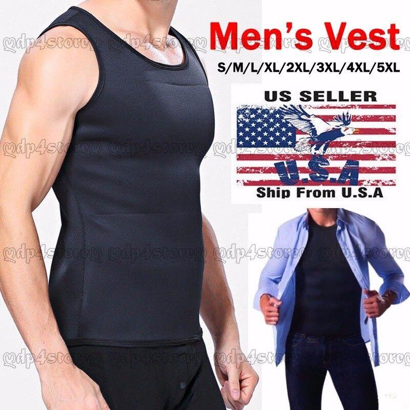 Neoprene Redu Slimming Vest T-shirt Top Body Shaper for Men Weight Loss Fat Burn