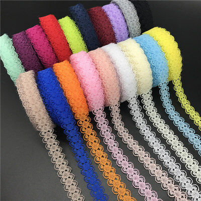 Ribbon Laces (10yds 15mm Lace Ribbon Bilateral Handicrafts Embroidered Net Lace Sewing)