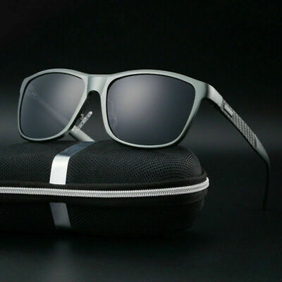 Herren Sonnenbrille Polarisierte Aluminium Winddicht Fahrradbrille Skibrille DE