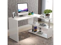QUICK SALE required - white office desk with moveable L shape