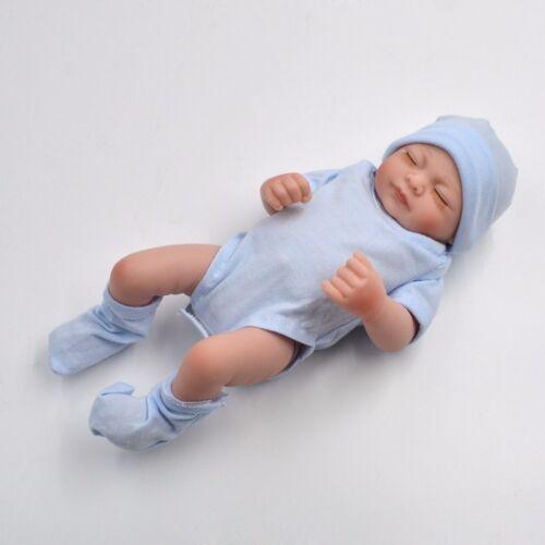 "11"" Handmade Newborn Baby Girl Vinyl Soft Silicone Realistic Reborn Doll New"