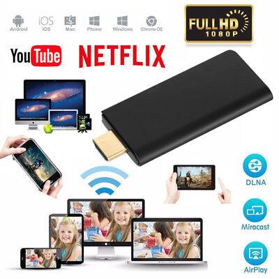 1080P Miracast WiFi Display TV Stick Dongle Chromcast Wireless Airplay Netflix