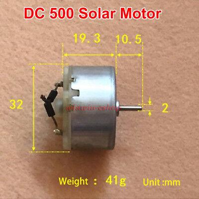 Micro 500 Solar Dc Motor Dc 3v 6v 7500rpm Special Round Minimotor For Solarpanel