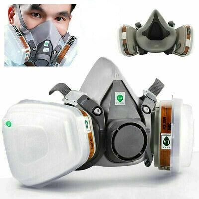 Us 7-in-1 Half Face Painting Spray Protection Respirator Gas Mask For 6200 Mask