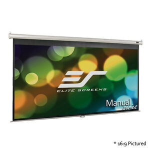 100' Pull-down Projector Screen with Auto Lock Elite Series