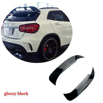 für Mercedes GLA200 250 GLA45 HeckStoßstange SplittersFlossen Flap Glanz Schwarz