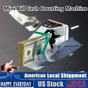 Handy Mini Counter Bill Cash Money Machine Automatic Banknote Currency Counter