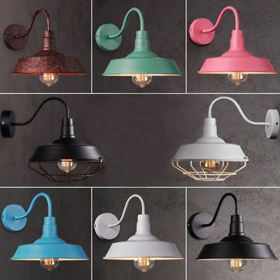 Hot Retro Industrial Gooseneck Barn Wall Sconce Lamp Fixture Outdoor Wall Light