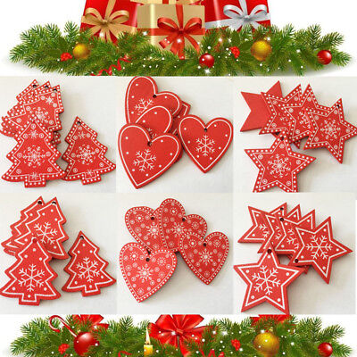 Chic Wood Pendant Xmas Tree Decoration Christmas Ornaments Hanging Gifts -
