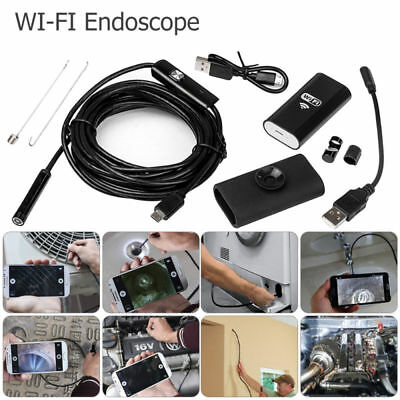 HD wasserdichte WiFi Endoskop Inspektion 6 LED Kamera für iPhone Android PC iPad (Iphone-kamera Wasserdicht)