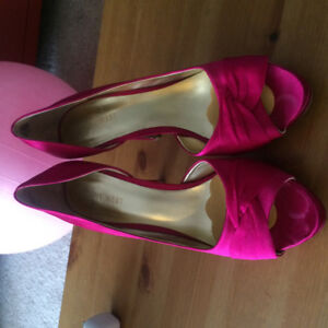Bright Pink Nine West Heels