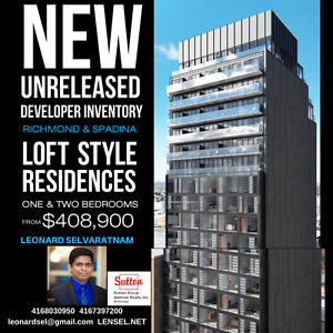 RICHMOND AND SPADINA ** LOFT STYLE RESIDENCES PRECONSTRUCTED