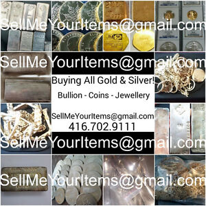 **BUYING ALL GOLD & SILVER - Coins, Bullion, Flatware, Etc**