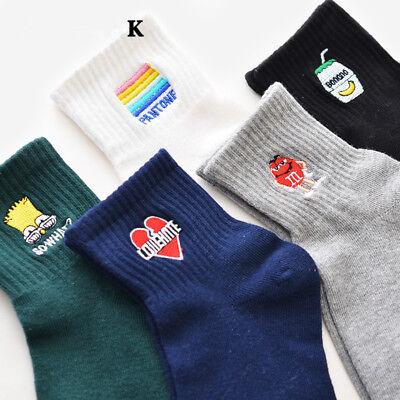 Trendy Socks (Trendy Women Men Funny Cotton Socks Harajuku Fire Print Unisex Short Socks)